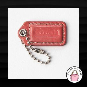 "1.5"" Small COACH SALMON PINK PATENT LEATHER KEYFOB"